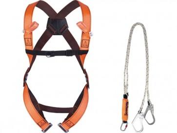Dispositivi di sicurezza DELTA PLUS Kit anti-caduta ponteggi pronto all'uso arancio - ELARA280