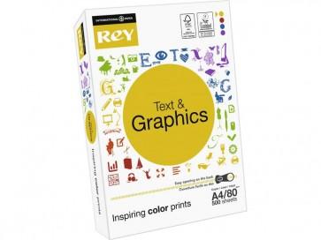 Carta per fotocopie A4 bianca INTERNATIONAL PAPER Rey Text & Graphics 80 g/m² (5 risme da 500 fogli)