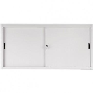 Armadio archivio in metallo grigio a porte scorrevoli - 618S Tecnical 2 - 2 ripiani - 180x45x85 cm