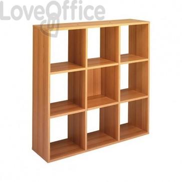 Libreria a giorno Maxicube Noce Artexport - 9 caselle - 104,1x29,2x103,9 cm -9 MaxC/4