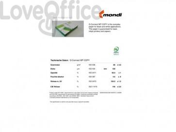 Carta per stampe e copie Q-Connect A4 80 g/m² risma da 500 fogli