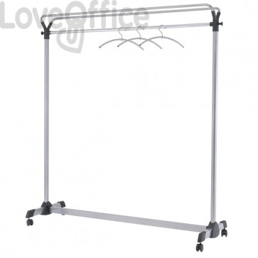 Stender appendiabiti reception Alba - grigio - 150x50x170 cm - PMgroup3
