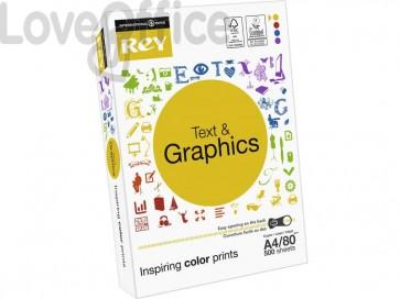 Carta per fotocopie A4 INTERNATIONAL PAPER Rey Text & Graphics 80 g/m² (5 risme da 500 fogli)