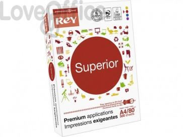 Carta per fotocopie A4 INTERNATIONAL PAPER Rey Superior 170 CIE 500 ff bianco RYSDP080X453
