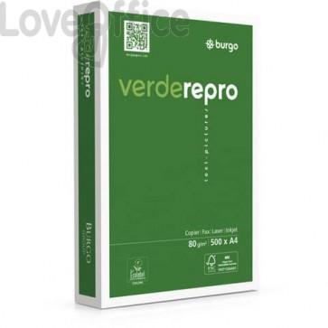 Carta per fotocopie A4 Burgo Repro Verde - High Quality 80 gr. bianca (240 risme da 500 fogli)