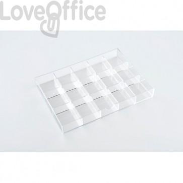 Divisori per cassettiera in acrilico a 3 cassetti Tecnostyl - trasparente - 15