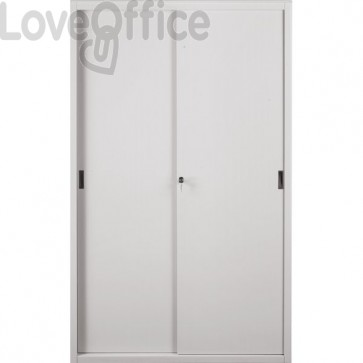 Armadio metallo grigio - Armadio archivio a porte scorrevoli - Tecnical 2 - 4 ripiani - 120x45x200 cm