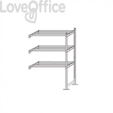 Scaffalatura metallica aggiuntiva RANG'ECO Paperflow - 5 ripiani - 125x70x200 cm