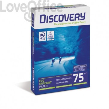 Carta da fotocopie A4 - Discovery 75 - 75 g/mq (minipallet 50 risme)