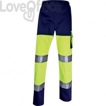 Pantalone altavisibilità Delta Plus - giallo fluo/blu - S - PHPANJMPT