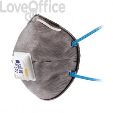 Respiratore 9922 - Maschera 3M per polveri, fumi e nebbie - 89620 (conf.10)