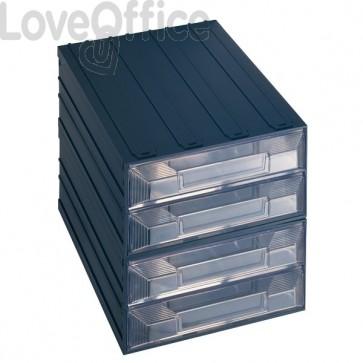 Cassettiera modulare in plastica - ad incastro - Vision Terry Store Age - 4 cassetti - 21x22x21 cm