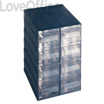 Cassettiera modulare in plastica - ad incastro - Vision Terry Store Age - 8 cassetti - 25x31x38 cm