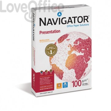 Risma carta per fotocopie Presentation Navigator - A4 - 100 g/mq - 500 (conf.5)