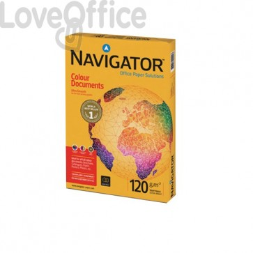 Carta per fotocopie Colour Documents Navigator - Risme Carta A4 - 120 g/mq (conf.8)