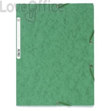 Cartellina con elastico verde - Exacompta NATURE FUTURE® - 3 lembi - 400 g/mq - 24x32 cm - dorso 1,5 cm