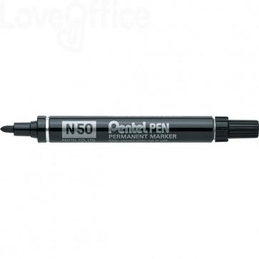 Pentel pennarello indelebile Nero - Pentel N50 - tonda - 4,3 mm