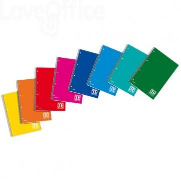 Quaderno con spirale A4 ONE COLOR Blasetti - a righe 1R - 60 fogli - Colore assortito