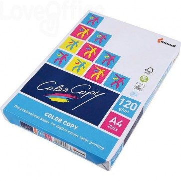 Risma carta A4 da 120 g/mq color copy mondy