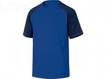 T-Shirt Mach Delta Plus bicolore girocollo manica corta cotone azzurro-blu - M - GENOABMTM