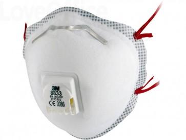 Respiratore monouso 3M FFP3 con valvola 8833 (Conf. 10 pezzi)