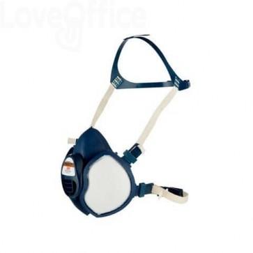 Respiratore a semimaschera 3M™ riutilizzabile classe FFA1P2 RD blu - 4251+
