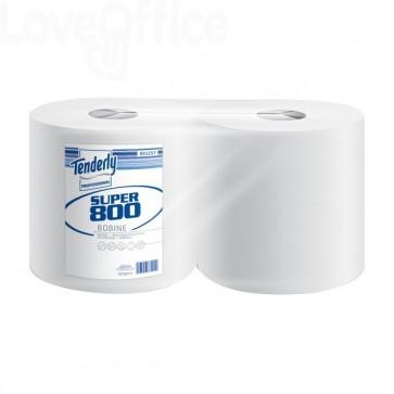 Bobina asciugatutto Lotus - 800 strappi - H 25,5 x Ø 24 cm - 851257 (conf.2 rotoli)