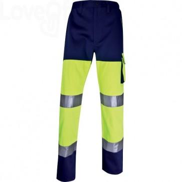 Pantaloni altavisibilità Delta Plus catarifrangenti - giallo fluo/blu - M