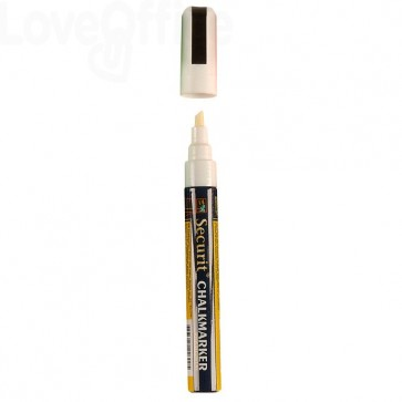 Pennarello a gesso liquido bianco Securit - 2-6 mm