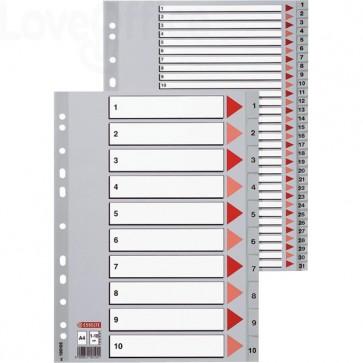 Pagina indice e divisori numerici in PPL per rubrica Esselte - 31 tasti