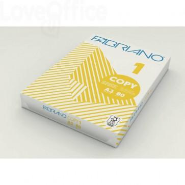 Carta per fotocopie A3 Fabriano COPY 1 bianco A3 42x29,7 cm 80 g/mq (risma da 500 fogli)