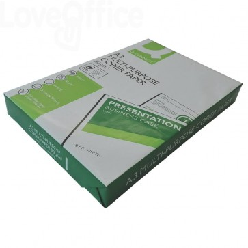 Carta per stampa e copie Q-CONNECT 80 g/m² A3 - 29,7x42 cm (risma da 500 fogli)
