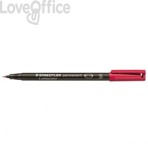 Staedtler Lumocolor Permanent - pennarello indelebile punta fine - rosso - superfine - 0,4 mm