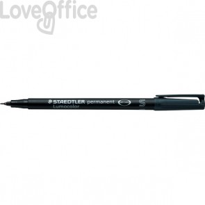 Staedtler Lumocolor Permanent - pennarello indelebile nero punta fine - superfine - 0,4 mm