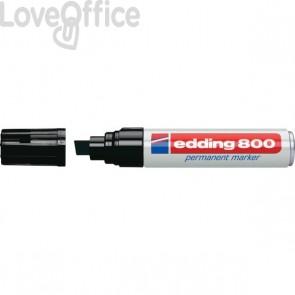 Pennarello indelebile nero Edding 800 - scalpello - 4-12 mm