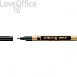 Pennarello Indelebile a vernice Edding 751 - oro - tonda - 1-2 mm