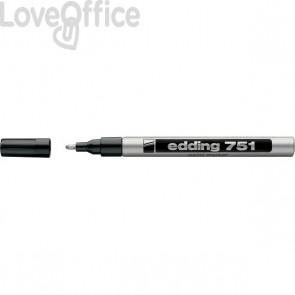 Pennarello Indelebile a vernice Edding 751 - argento - tonda - 1-2 mm