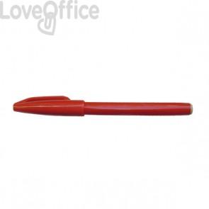 Penna punta in fibra Sign Pen Pentel - rosso - 2 mm
