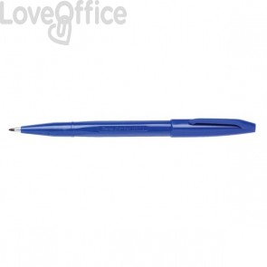 Penna punta in fibra Sign Pen Pentel - blu - 2 mm
