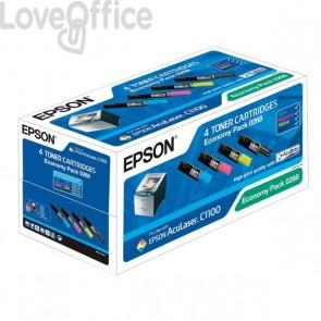 Originale Epson C13S050268 Conf. 4 Toner ECONOMY PACK 0268