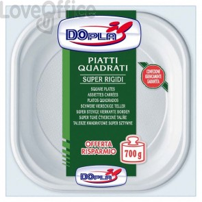 Piatti quadrati DOpla - bianco - 20x20 cm - 01464 (conf.53)