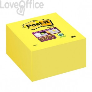 Post-it® Super Sticky Cubo - 76x76 mm - giallo oro - 2028-S