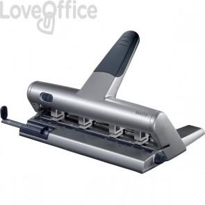 Perforatore Leitz 5114 Akto- a foratura variabile - 30 fogli - grigio metallizzato - 51140184
