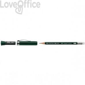 Matita con gommino Castell Faber Castell 9000 Extender B - set con matita con allungalapis + temperino