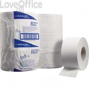 Carta Igienica mini Jumbo SCOTT® Kimberly Clark - 2 veli - 175m - Ø 17,5cm - 7,6cm - 85125 (conf.12)
