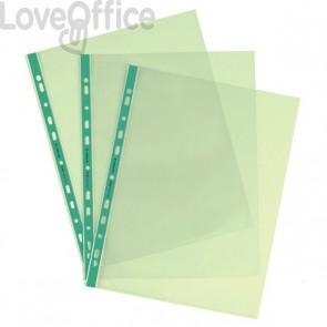 Buste a foratura universale A4 Favorit Art - 22x30 cm - liscio - Verde (conf.25)