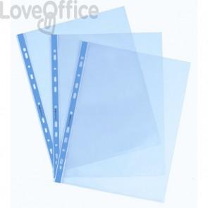 Buste a foratura universale Favorit Art - 22x30 cm - liscio - Azzurro (conf.25)