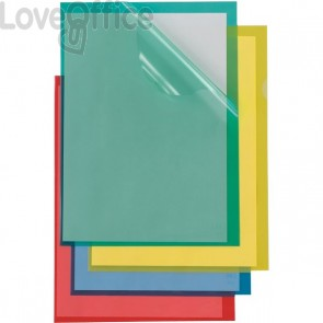 Cartelline a L Poli Sei Rota - Formato A4 - PPL - giallo - 66232206 (conf.25)