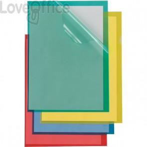 Cartelline a L Poli Sei Rota - Formato A4 - PPL - rosso - 66232212 (conf.25)