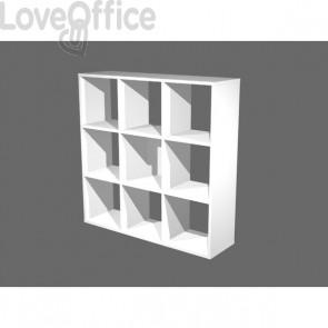 Libreria a giorno Maxicube bianco Artexport - 9 caselle - 104,1,8x29,2x103,9 cm - 9 MaxC/3